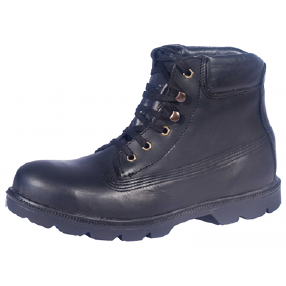 Zamshu Leather Smooth Safety Boots
